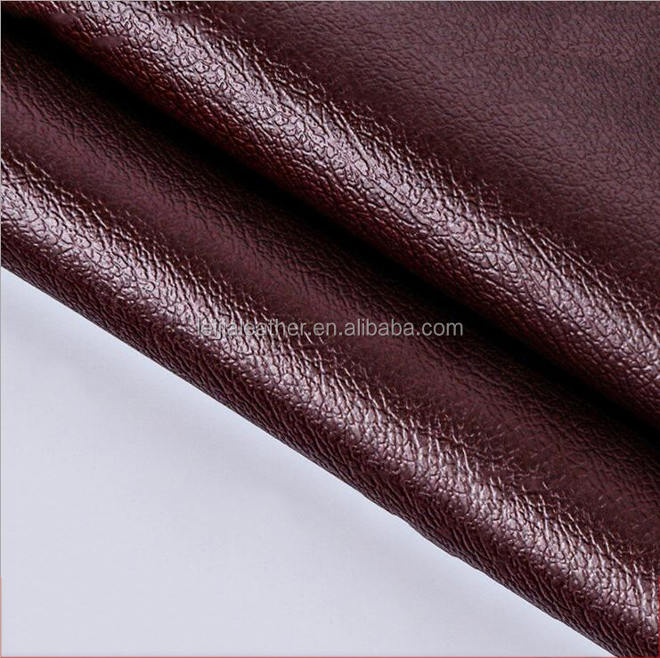 Faux Leather Vinyl Upholstery Fabric Material PVC Leatherette for sofa and furniture making