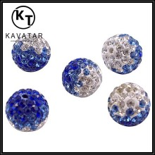 blue cheap shamballa bead landing charms