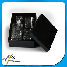 china alibaba decanter set box wine glasses packaging wooden box csutomized your own logo for gift