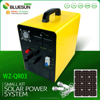 150w small solar system power solar portable power pack system