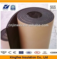 rubber foam insulation sheet roll with expanded closed cell structure and unique formulation