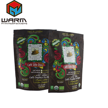 Snacks Stand Up Pouch/Doypack/Plastic Bags with custom printed logo roasters coffe pouches