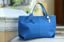 2014 latest blue beautiful girl texas french leather handbags