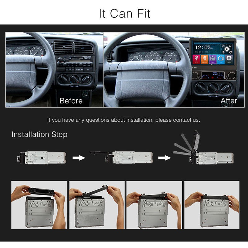 "flie down Dashboard Placement and 7"" Screen Size single din 7 inch rechatable car cd dvd player"