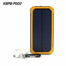 High capacity 20000mah solar charger powerbank for cellphone and camping