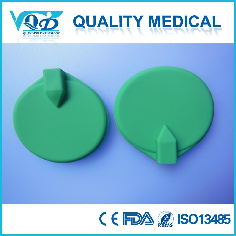 65mm round Reusable Silicon rubber electrodes pad with 2.0mm pin