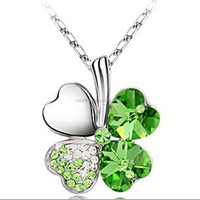 Lucky, Beautiful,Silver Four Leaf Clover Necklace