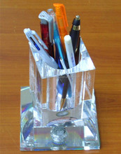 Wholesale crystal desktop pen holder