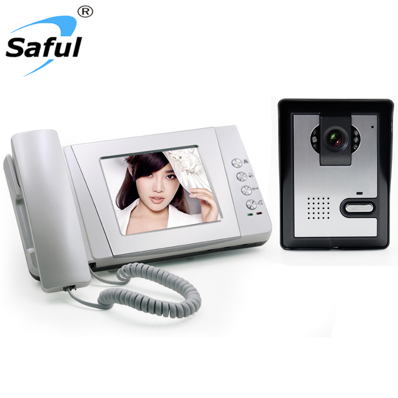 Saful 4 wire video Door Phone , Handset/Hands-free intercom, access control, intercom