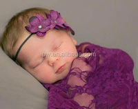 new product baby lace wraps with head accessories baby photography props