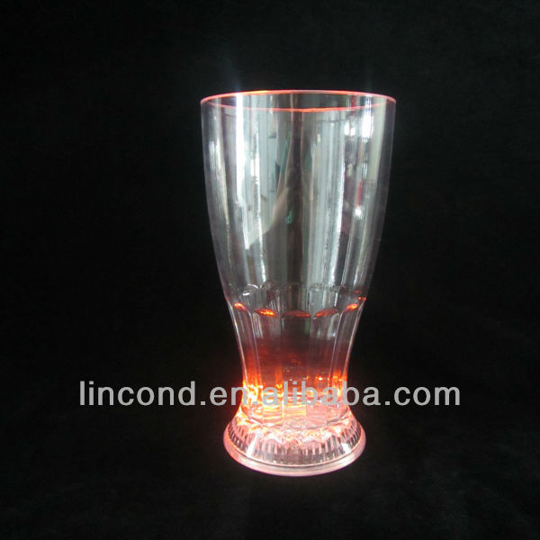 plastic led flashing glow cup,led glass for party