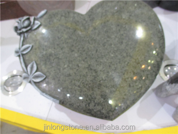 Shanxi black granite, tombstones heart black
