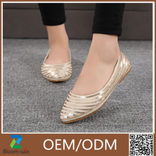 sequin woven flat shoes dance shoes foldable soft bottom in fashion look