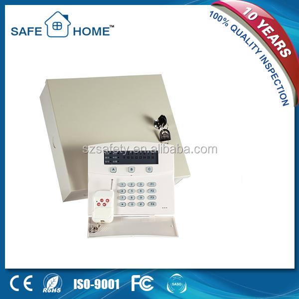 Factory price 315/433Mhz metal box gsm+pstn dual network home burglar security auto dial alarm system