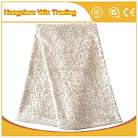 Popular Bridal Floral Tulle Embroidery Design French Lace Fabric with Sequin