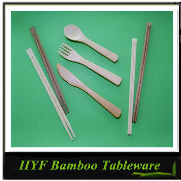 China Best Price Quality Bamboo Spoon Knife Forks And Chopsticks
