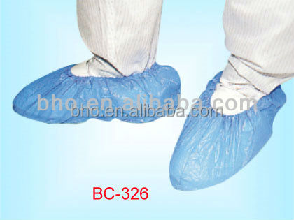 BC-326 Clean room shoes CPE plastic disposable shoes cover