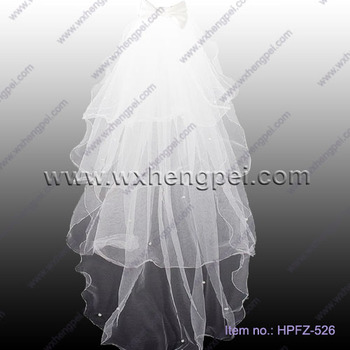 The soft tulle wedding veil