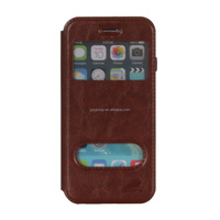 Skinning Flip Cover leather phone Case with View Window for iphone 6