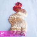 Indian human hair ombre hair /tow tone color hair wefts(YM-J-0076)