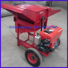 Movable mini thresher for wheat
