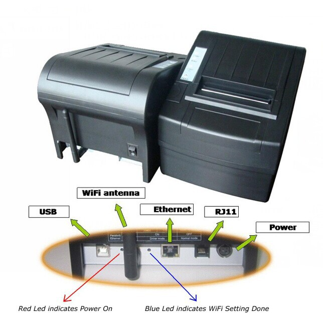 NT-8220 Laser Type and Stock Products Status WIFI thermal printer