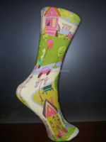 seamless printing,reactive print digital print sock, stocking, hosiery