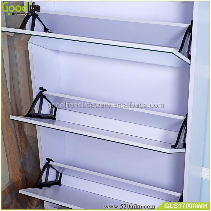 GLS17008mirror shoe cabinet-1