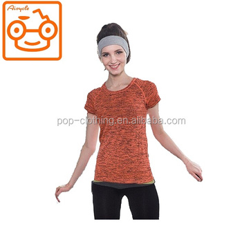 Fashion fitness yoga bodysuit for women yoga shirts with OEM service