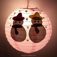 2015 Hot Selling Handmade Chrismas Decoration Paper Haning Lantern Christmas Ornaments