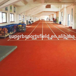 Outdoor indoor synthetic rubber running track polyurethane sport surface flooring