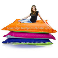 fashion printed cotton teardrop beanbag chair for adult and children indoor use