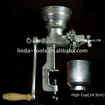 Manual cast iron grain mill with high feeder,muller,corn mill corn grinder