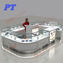 Modern Store Silver Jewelry Accessories Shopping Mall Kiosk Design