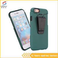 Latest high quality fashion color shockproof tpu pc back splint cell phone case for iphone 6