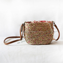 natural simple straw tote bags small shopping summer bags