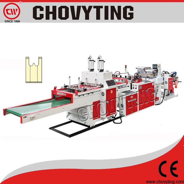 CW-400V2 high speed t-shirt poly bag automatic handle sealing machines