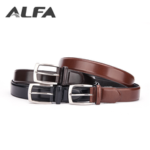 Alfa Quality Products Custom Brand Logo Printed Men Fashion Dress PU Leather Belts