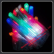 LED Flashing Glove Dance Sequin Gloves