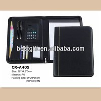 High quality custom hanging file folder A4 Zipped Calculator Folder