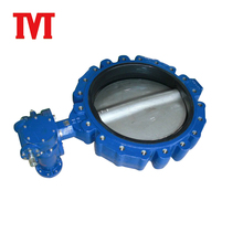 welded worm gear actuated wafers end type butterfly valves