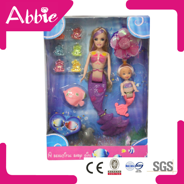 Plastic Pricess Dolls Mermaid Figurine Dolls with Mini Cute Mini Mermaid Dolls