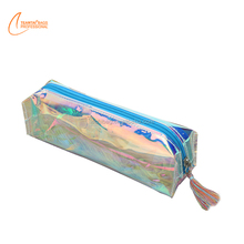 Women fashion colorful laser tassel pencil case cosmetic bag beauty shiny makeup pouch
