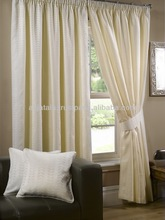 Jacquar Lined Curtain with Pole Pocket and Tape