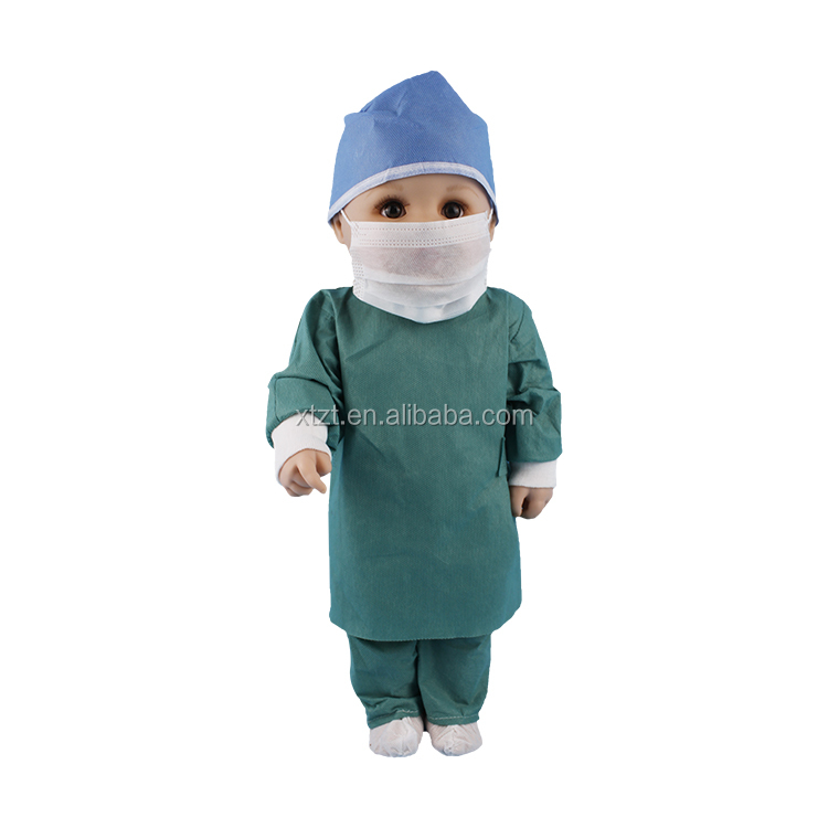 Samples Free Disposable SMS Sterile Surgical Gown With Knitted Cuff