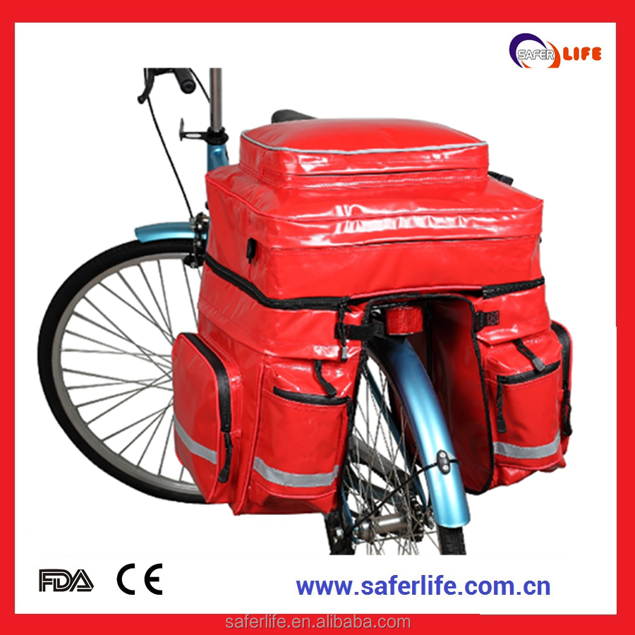 Wholesale Large red color First Aid Bicycle emergency Kit with nylon material design