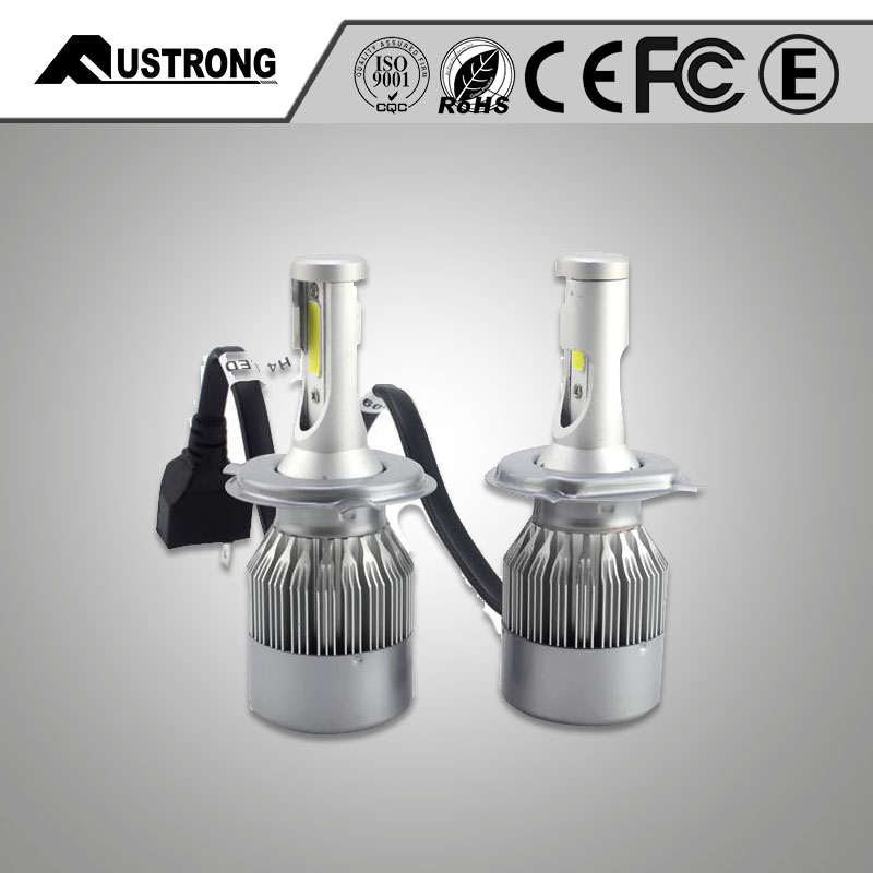 Fustrong C6 led head light car all in one design with fan canbus 30w 3500lm 6500k