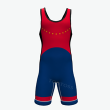 Sublimation Custom High Cut Youth Camo Wrestling Singlet