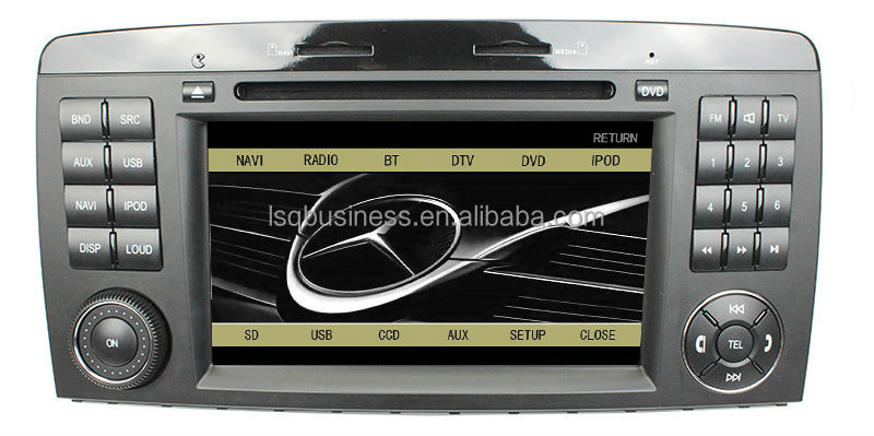 Free shipping Android 4.0 System car DVD GPS For Mercedes-Benz R280/R320/R350/R500 with GPS Canbus ST-9306