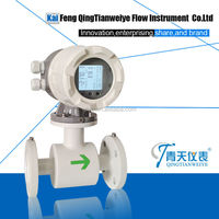 Low abrasion slurry electromagnetic flow meter